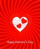 De groetkaart van de valentijnskaartendag Stock Afbeeldingen