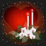 De groetkaart van de valentijnskaartendag met liefdeharten royalty-vrije illustratie