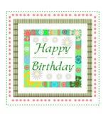 De groetkaart van de verjaardag Royalty-vrije Stock Afbeeldingen