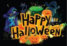 De groetkaart van Halloween Royalty-vrije Stock Afbeelding