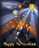 Het dansende skelet Stock Fotografie
