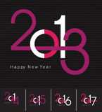 De groetkaart van het nieuwjaar Royalty-vrije Stock Afbeelding
