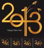 De groetkaart van het nieuwjaar stock illustratie