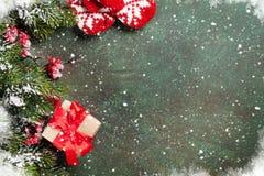 De groetkaart van Kerstmis Stock Afbeelding