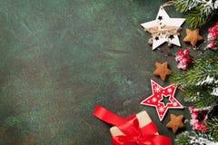 De groetkaart van Kerstmis stock foto