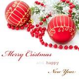 De groetkaart van Kerstmis Stock Foto's