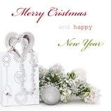 De groetkaart van Kerstmis Royalty-vrije Stock Afbeelding
