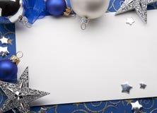 De groetkaart van Kerstmis stock afbeeldingen