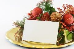 De groetkaart van Kerstmis Stock Fotografie