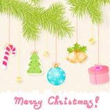 De groetkaart van Kerstmis Royalty-vrije Stock Fotografie