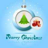 De groetKaart van Kerstmis. Royalty-vrije Stock Afbeeldingen