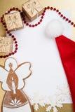 De groetkaart van Kerstmis en van het Nieuwjaar Stock Foto's