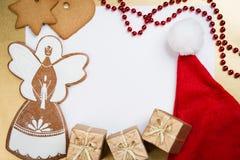 De groetkaart van Kerstmis en van het Nieuwjaar Royalty-vrije Stock Foto's
