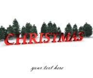 De groetkaart van Kerstmis - ga uw tekst in Stock Afbeeldingen