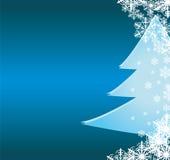 De groetkaart van Kerstmis met decoratieve blueorname Stock Foto's