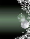 De groetkaart van Kerstmis met decoratieve blueorname Stock Afbeeldingen