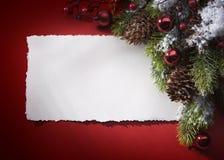 De groetkaart van Kerstmis van de kunst stock foto