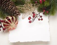 De groetkaart van Kerstmis van de kunst Royalty-vrije Stock Afbeelding