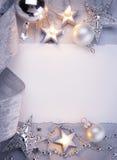 De groetkaart van Kerstmis van de kunst stock fotografie