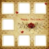 De groetkaart van Kerstmis voor een familie Stock Foto's
