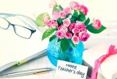 De groetkaart van de lerarendag Stock Foto