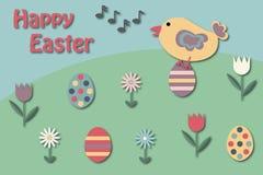 De groetkaart van Pasen stock afbeeldingen