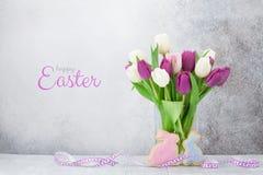 De groetkaart van Pasen stock afbeelding