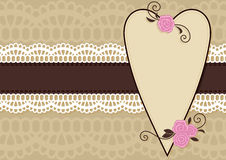 De Groetkaart van Valentine Stock Afbeelding