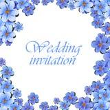 De groetkaart, waterverf, kan als uitnodigingskaart voor huwelijk, verjaardag en andere vakantie en de zomerachtergrond worden ge Stock Foto