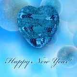 De groetkaarten van het nieuwjaar Stock Afbeelding