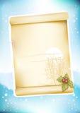 De groetpagina van Kerstmis Stock Foto