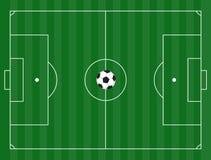 De grond van de voetbal Stock Fotografie