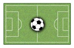 De grond van het voetbal Stock Foto
