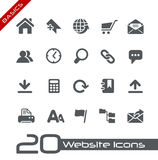 De Grondbeginselen van // van de Pictogrammen van de website Stock Foto's