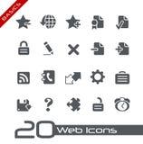 De Grondbeginselen van // van de Pictogrammen van het Web Stock Afbeelding