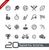 De Grondbeginselen van // van de Pictogrammen van sporten Stock Foto's