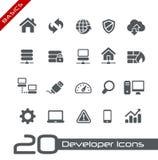 De Grondbeginselen van //van ontwikkelaarpictogrammen Stock Afbeeldingen