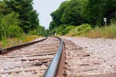 De grondmening van het treinspoor Stock Afbeelding