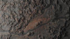 De grondoppervlakte bedekte bevroren lavasatellietbeeld met een laag stock video