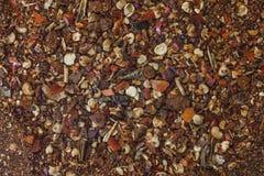 De grondpaprika poederde Spaanse peperkruid stock foto