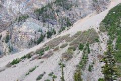 De grondverschuiving van de berg royalty-vrije stock foto