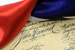De grondwet van de de handtekeningsv.s. van John Hancock royalty-vrije stock fotografie