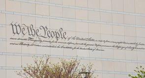 De grondwet van de V.S. Stock Afbeelding