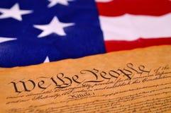De Grondwet van de V.S. Stock Afbeeldingen