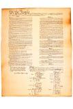 De Grondwet van de V.S. op het document van het Perkament Stock Foto