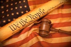 De Grondwet van de V.S. - wij de Mensen royalty-vrije stock fotografie