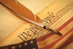 De Grondwet van de V.S. - wij de Mensen stock afbeelding