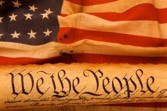 De Grondwet van de V.S. - wij de Mensen royalty-vrije stock foto's