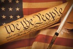 De Grondwet van de V.S. - wij de Mensen stock afbeeldingen