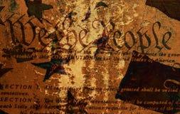 De Grondwet van Grunge Stock Foto